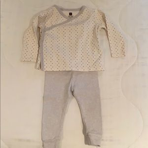 Tea Collection Wrap Top and pant set
